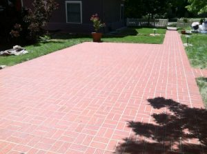 brick patio in louisville co before sealwize treatment