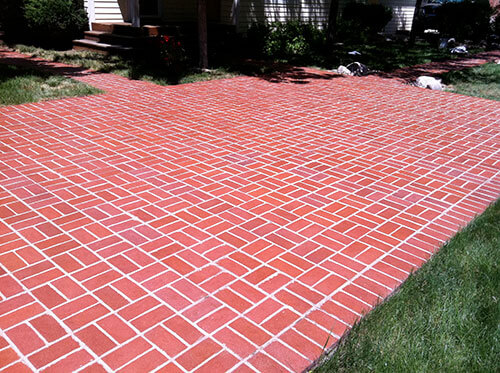 brick patio after sealwize application in Boulder, CO