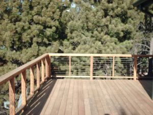 wood deck in louisville, colorado before sealwize treatment