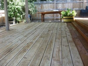 deck in louisville, colorado before sealwize treatment