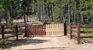 Fence in Boulder County during sealwize treatment