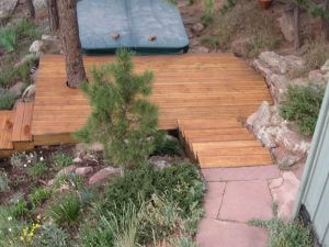 steps to hotub in boulder, colorado after sealwize treatment