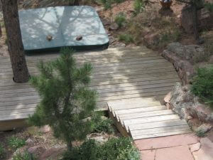 steps to hotub in boulder, colorado before sealwize treatment