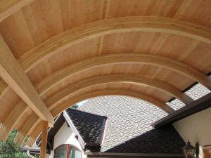 wood archway in boulder, colorado before sealwize treatment