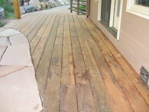 wood deck in boulder, colorado before sealwize treatment