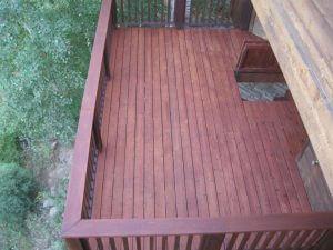 redwood deck in boulder, colorado after sealwize treatment